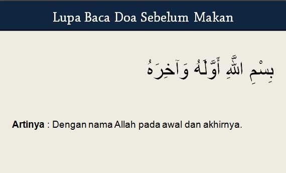 Lupa Baca Doa sebelum Makan
