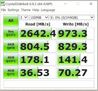 testing write read speed SSD Internal Dell XPS 13