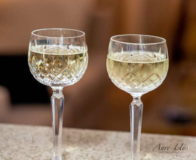 Chardonnay served in Crystal glasses Close-up Photography