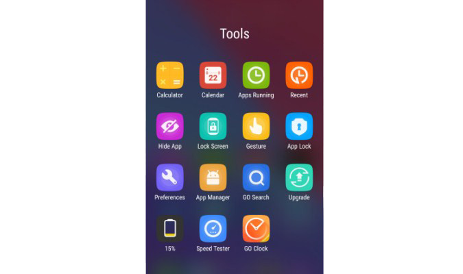 Sembunyikan ikon Aplikasi di Layar Android - Go Launcher