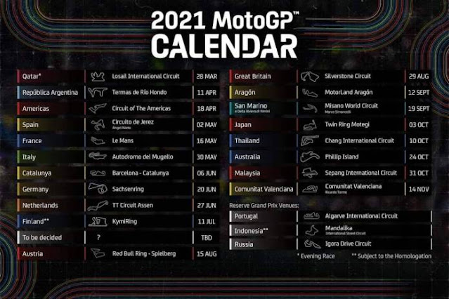 Sirkuit Mandalika Indonesia Masuk Kalender MotoGP 2021, Tapi Masih Belum Fix?