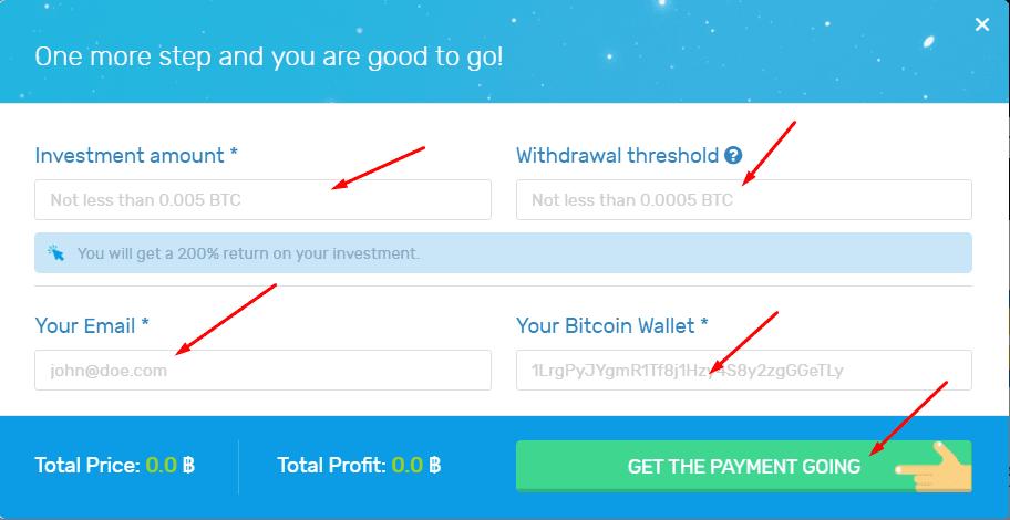 Регистрация в BitUniverse 2