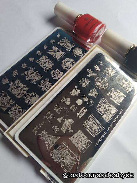 detalle de los diseños de las placas de estampar de Borpretty