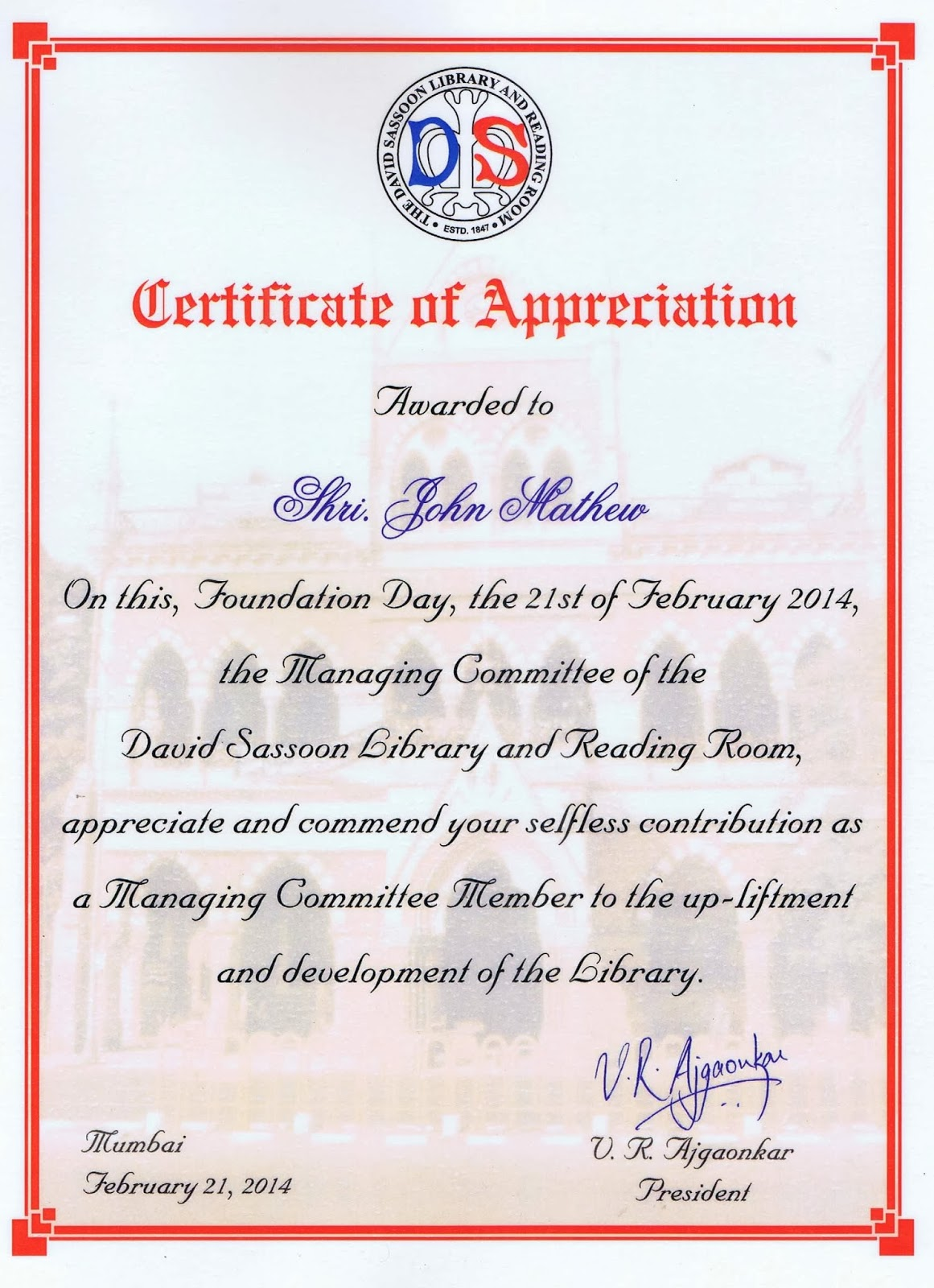 John P Matthew On Writing Book Reviews And The Writing Life DSL CERTIFICATE  Honoured To Be Felicitated By Davidhtml Army Certificate Of Appreciation  Army Certificate Of Appreciation Template