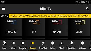 Tribün TV APK İndir, Canlı Maç İzlemek Şifreli Kanallar Sinema Dizi Belgesel TV İzle