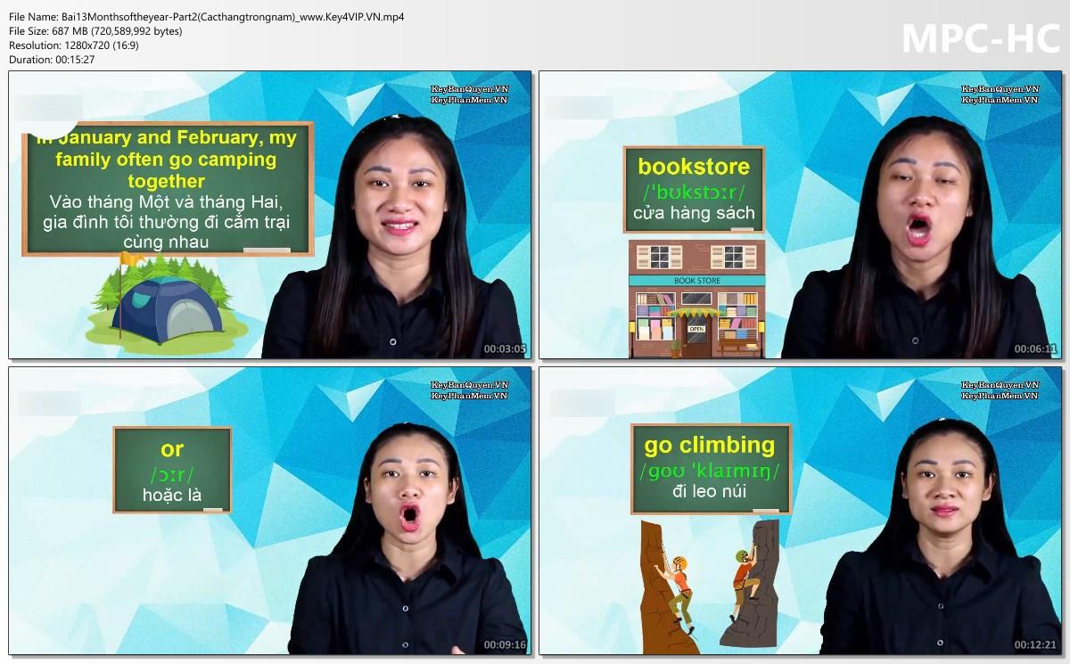 Video khóa học tiếng Anh giao tiếp cho người mới bắt đầu.