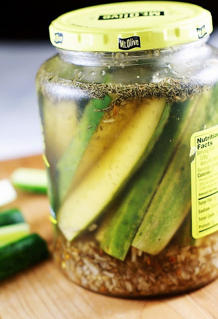 Jar of Fresh Cucumber Refrigerator Pickles Image