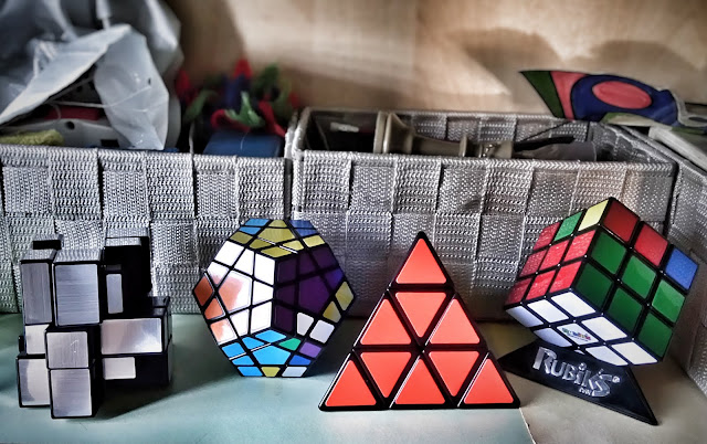 rubiks cube and many cube friends