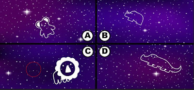 Alt 4 Q 15. Looks like color bird has some blackberries and is soaring the night sky. Can you see where color bird is?
