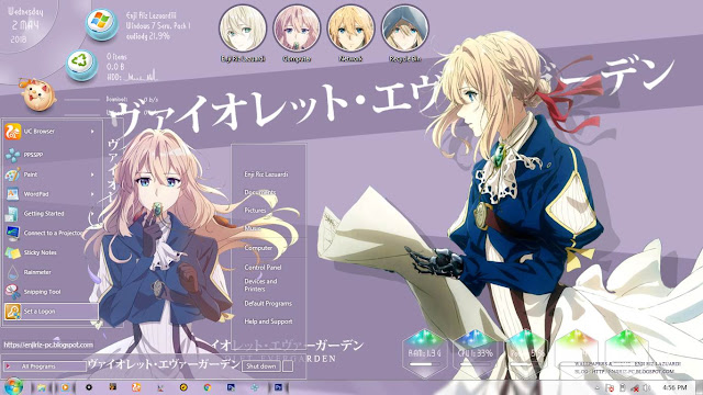 Violet Evergarden Theme Win 7 by Enji Riz Lazuardi