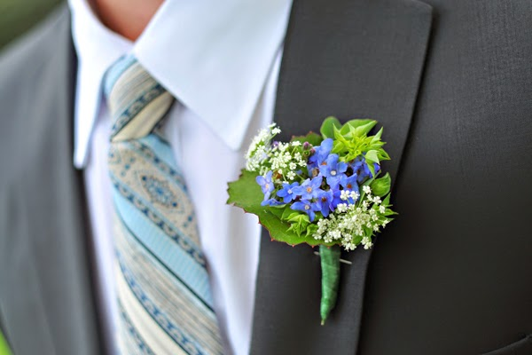 Funky Modern Wedding Boutonierres