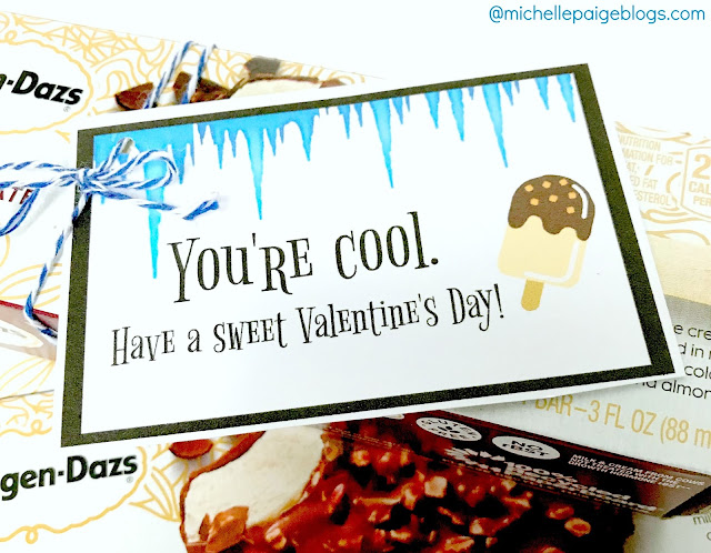 Printable Ice Cream Valentines @michellepaigeblogs.com