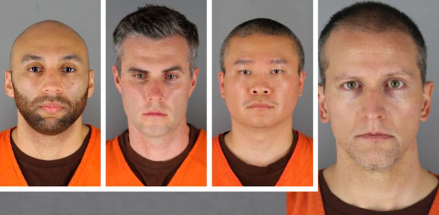 4 Minneapolis Cops Now Charged In George Floyd's Death; Their Mugshots Released