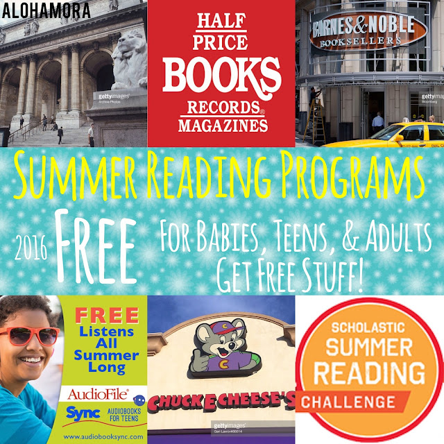 The Best Summer Reading Programs in 2016, and they are all FREE.  Read books and get free stuff.  Free books, audiobooks, toys, fun, and more. Prevent the learning slide; read to your kids. Books of any kind are the best.