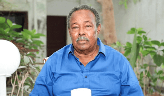 Ex-Somalia president Ali Mahdi Muhammad photo