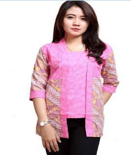 desain baju batik atasan wanita