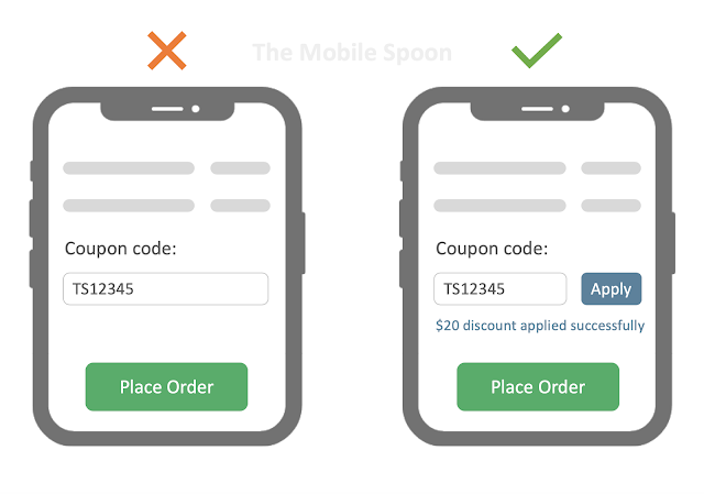 Coupons and discounts example - the mobile spoon
