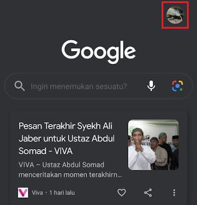 Hapus Profil Google di HP lain