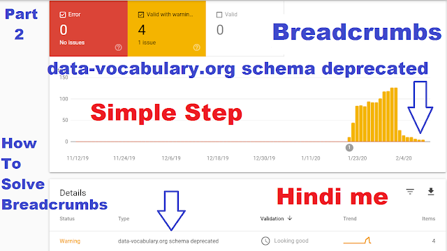 How to fix Breadcrumbs Error data-vocabulary.org schema deprecated