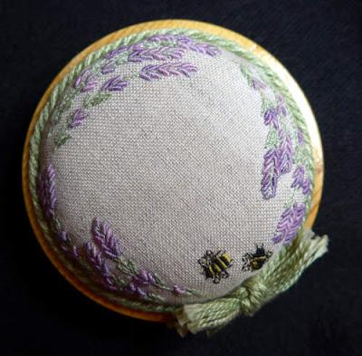 Lorna Bateman's original Lavender and Bess Pincushion
