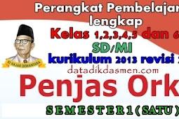 Perangkat PJOK Semester 1 Kurikulum 2013 Revisi 2017 Lengkap