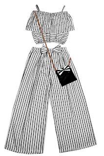 CHARITRA Girls Black Printed Designer TOP and Plazo Set