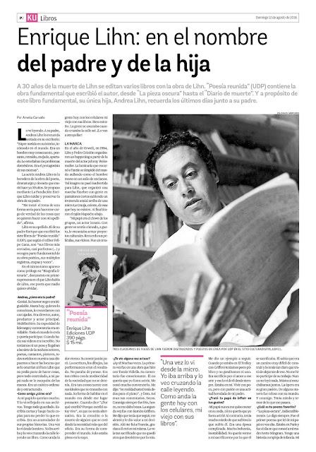 Enrique Lihn: en el nombre del padre y de la hija [Prensa en Chile a 30 años de su muerte]