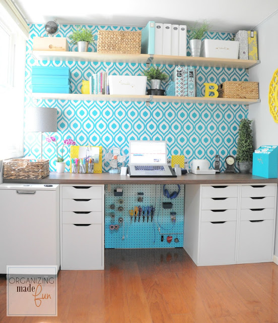 Perfectly Organized What Organizing Made Fun: How To Hide Messy Cords With Pegboard