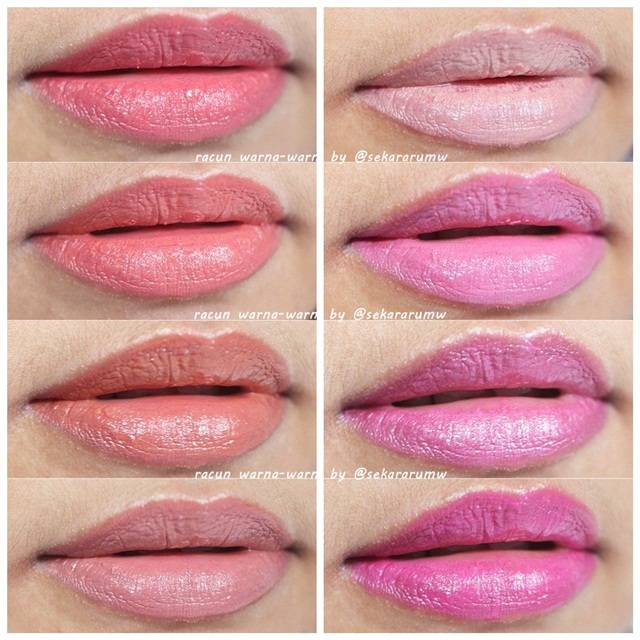 Swatch Wardah Lip Palette Pinky Peach