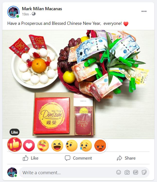 Facebook Lunar New Year Like Button