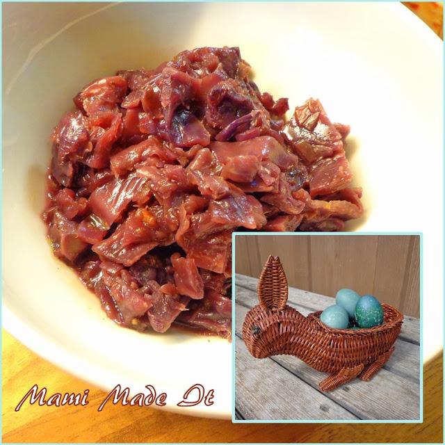 Eier färben mit Rotkraut - Dying Eggs with Red Cabbage