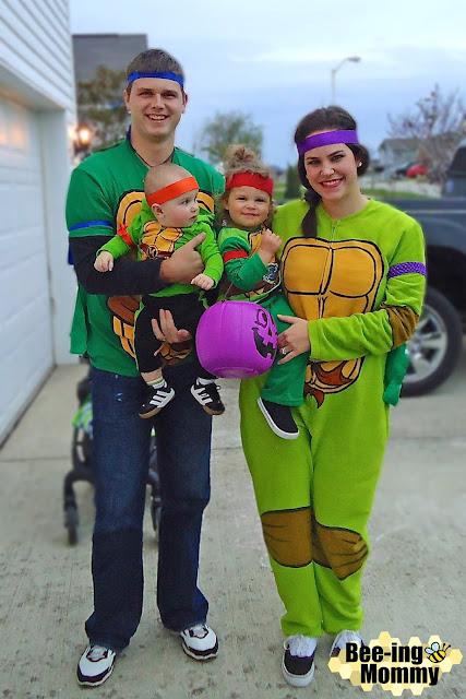 ninja turtle, ninja turtle costume, turtle costume, DIY ninja turtle costume, Halloween costume, Halloween family costume, family costume idea, family of 4 costume, family costume theme