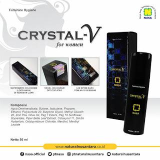 Crystal V Spray Feminine Hygiene, produk Nasa terbaru, pilihan lain selain NCX