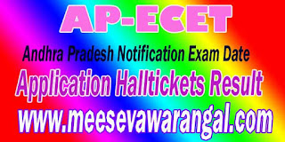 AP ECET 2017 Notification Exam Date Application Halltickets Result www.apecet.org