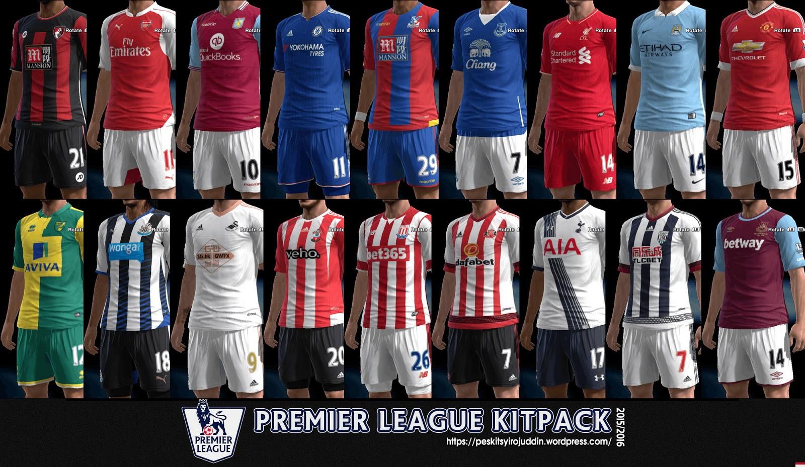 Chelsea Vs Man City: Premier League Kits Pack V3