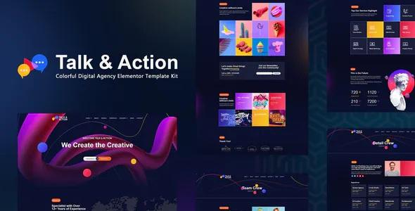 Best Digital Agency Elementor Template Kit