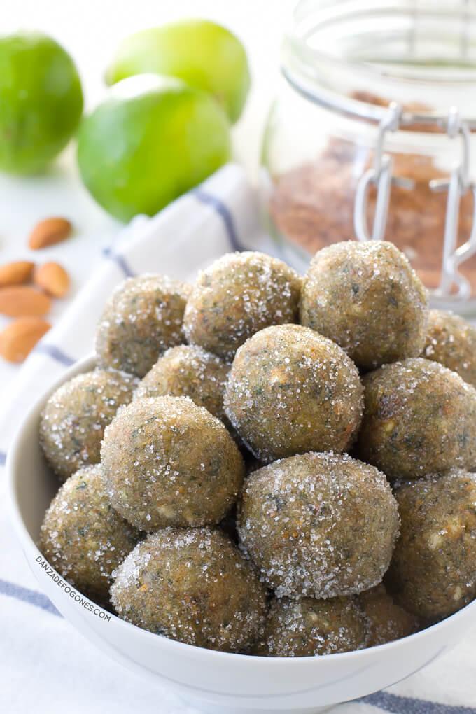 Vegan mojito balls without alcohol | danceofstoves.com