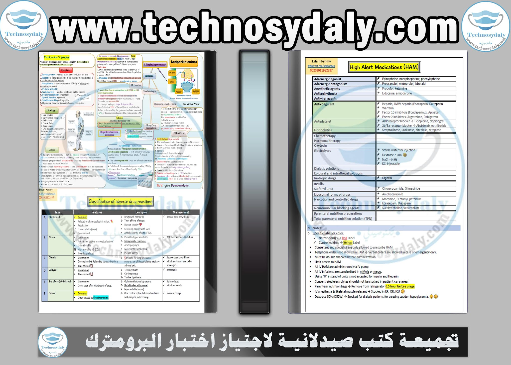 تجميعة كتب صيدلانية لاجتياز اختبار البرومترك A collection of books PDF to pass the Prometric Exam