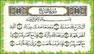 Teks Bacaan Surat Al Insyirah Arab Latin dan Terjemahannya Teks Bacaan Surat Al Insyirah Arab Latin dan Terjemahannya