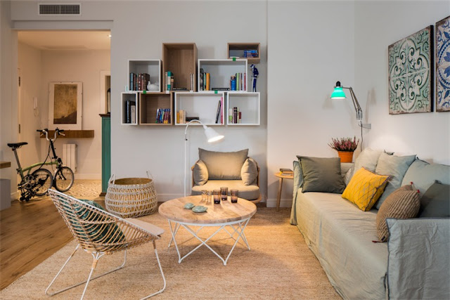 interiorismo estilo nordico en vivienda barrio de gracia de barcelona chicanddeco