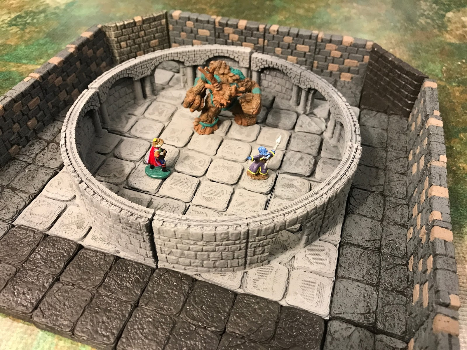 photo regarding 3d Printable Dungeon Tiles titled Raging Owlbear: DD inside of 3D (printing)