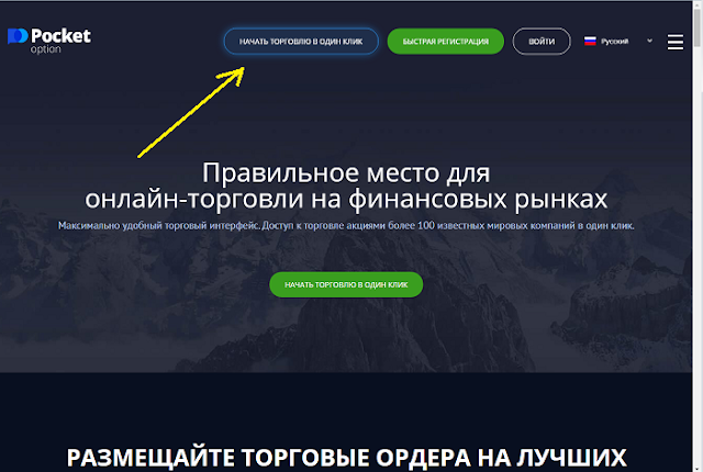 Скриншот сайта Pocket Option