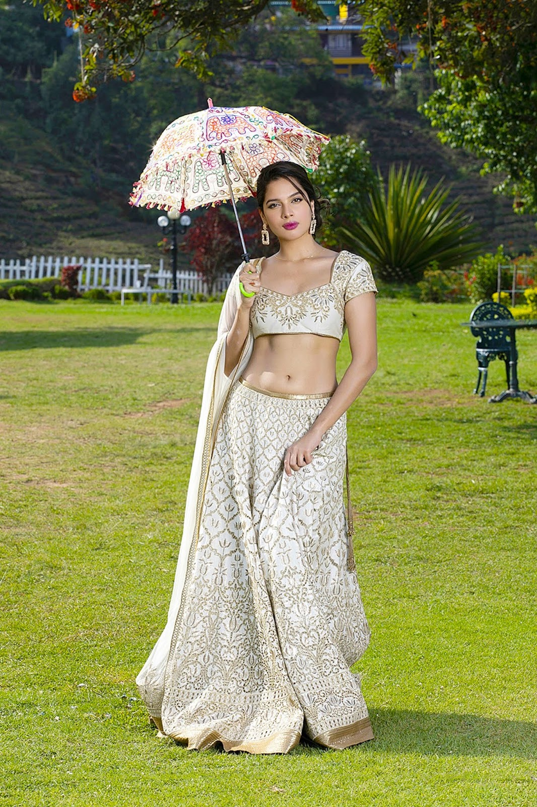 Tanya Hope Hot Navel and Hip Latest Photoshoot In Ghagra Choli