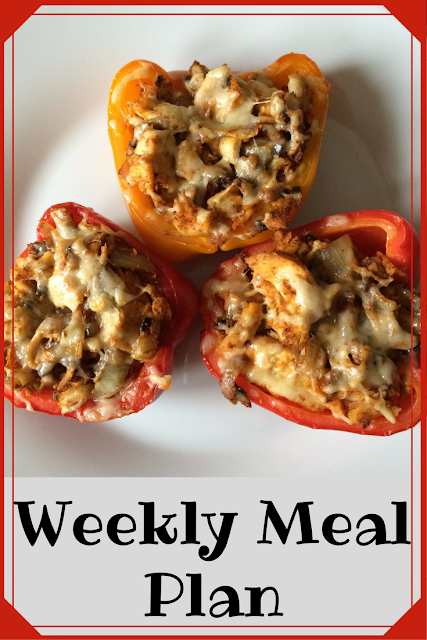 Weekly Meal Plan - Chicken Fajite Stuffed Peppers