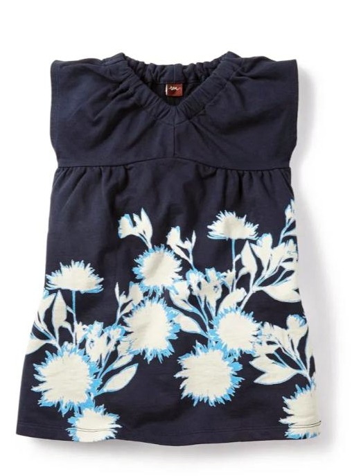 Dandelion Dress and Fabric using sunprint technique