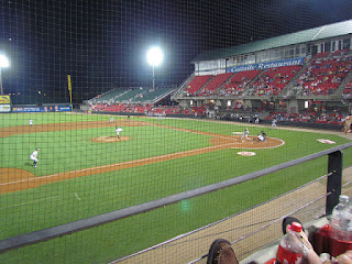 First pitch, Hillcats vs. Mudcats
