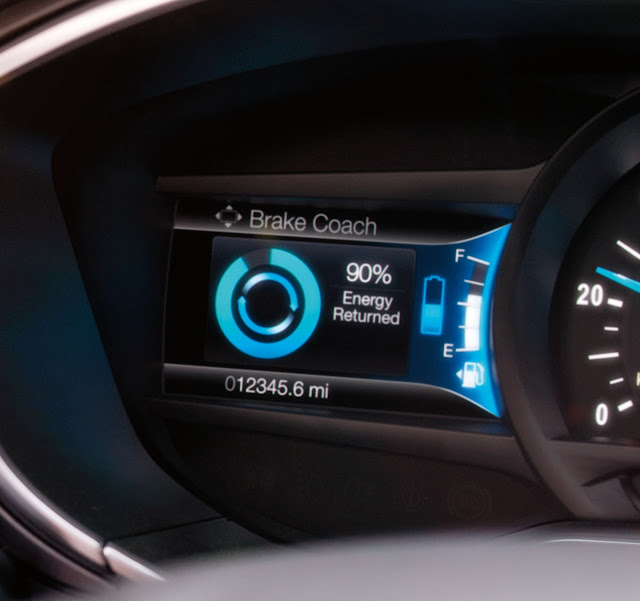 Regenerative braking gauge in 2017 Ford Fusion Hybrid