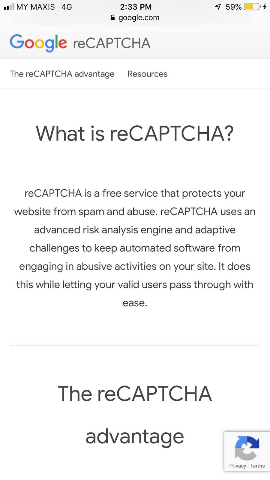 apa itu cimblicks recaptcha