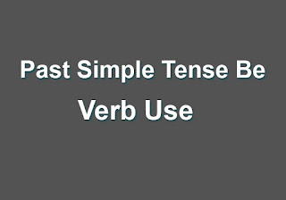 Past Simple Tense Be Verb Use