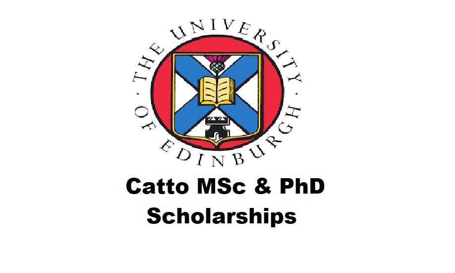 Catto MSc & PhD Scholarships